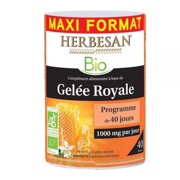 gelée royale bio herbesan pot 40g