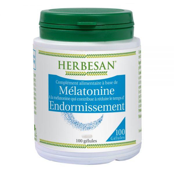 3mélatonine temps endormissement réduction sommeil décalage horaire herbesan gélule