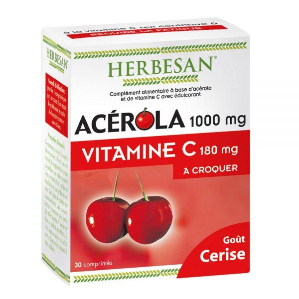 acérola goût cerise vitamine c herbesan