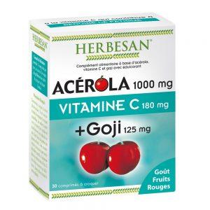 acérola goji vitamine C herbesan comprimé