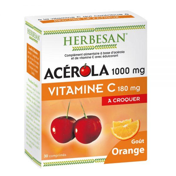 acérola gout orange vitamine C herbesan