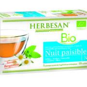 infusion bio nuit paisible herbesan