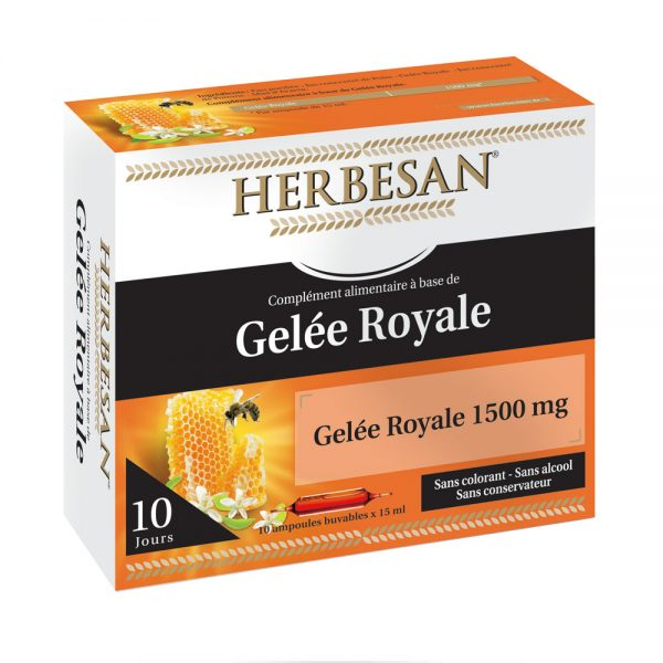 Gelee royale 10 ampoules herbesan