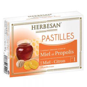 pastilles miel propolis gorge gout citron miel herbesan