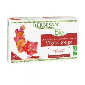 vigne rouge bio ampoule circulation herbesan