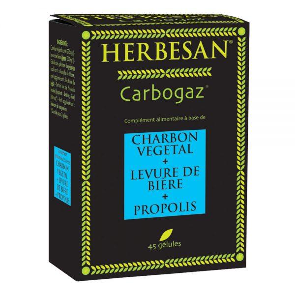 carbogaz charbon végétal levure de biere propolis herbesan
