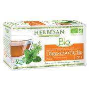 Infusion bio menthe poivrée fenouil digestion facile goût menthe