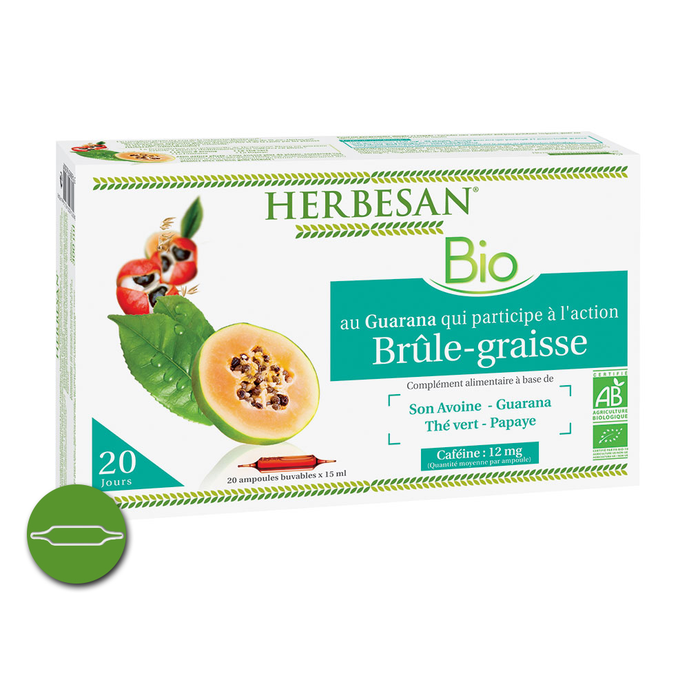 Herbesan Brûle graisse Bio 20 sachets infusettes - Herbesan