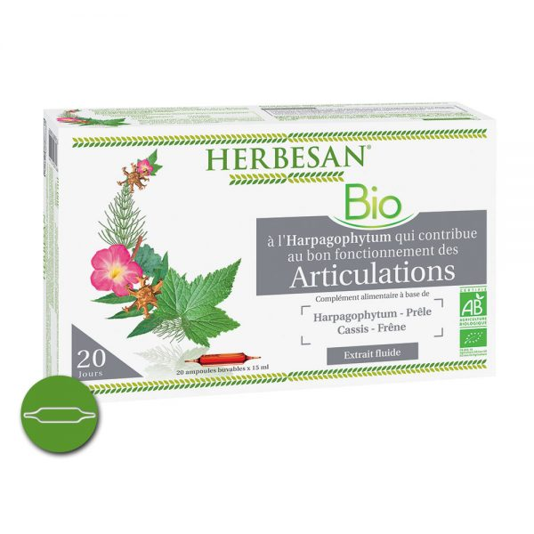 Harpagophytum articulations ampoules bio herbesan
