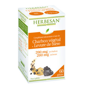 charbon végétal levure de bière digestion gélule herbesan