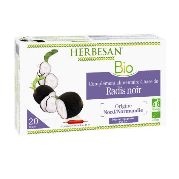 Radis noir bio ampoules herbesan foie