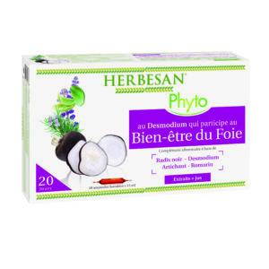 Ampoules Bien Etre du foie Complexe Desmodium Digestion