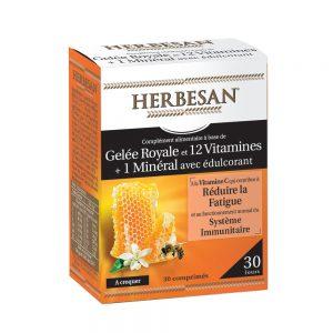 gelée royale vitamines minéraux herbesan vitalité