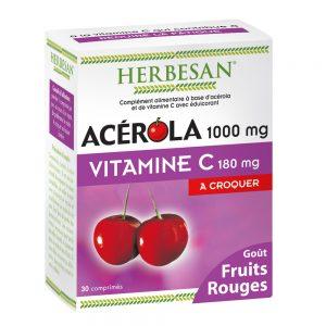 acérola goût fruits rouges vitamine c herbesan