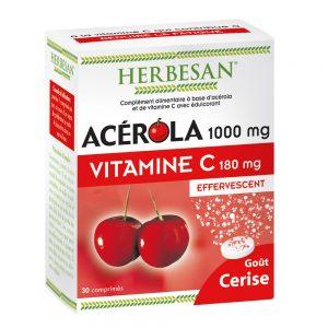 acérola goût cerise effervescent herbesan vitamine c