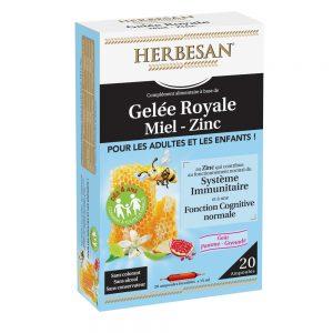 gelée royale miel zinc herbesan vitalité système immunitaire
