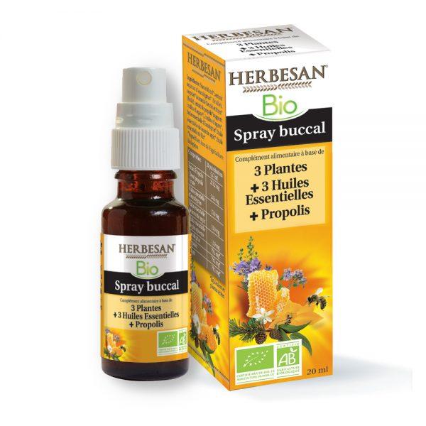 spray buccal bio herbesan plantes huiles essentielles propolis