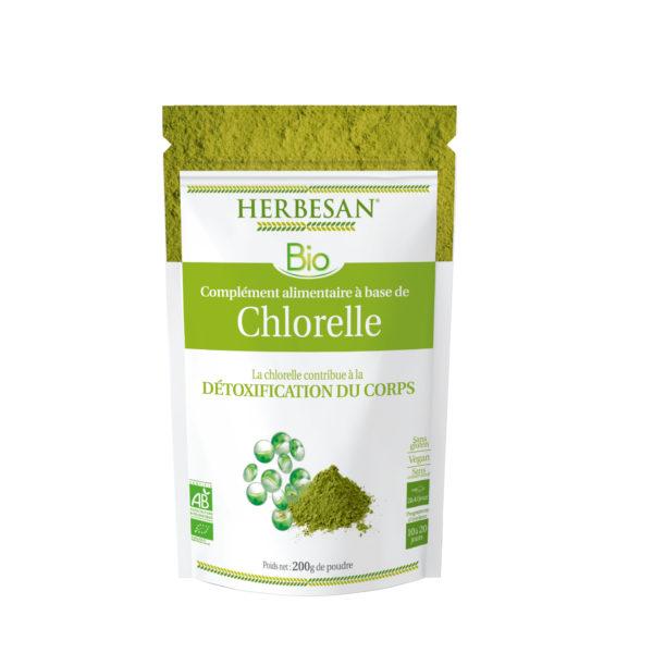 detoxification chlorelle bio herbesan pack poudre herbesan vegan